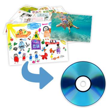紙・写真をCDにデータ保存