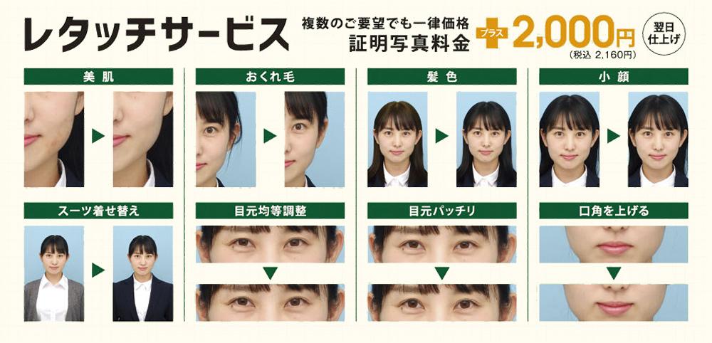 カメラ の キタムラ 証明 写真 データ